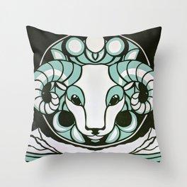 Astrology Northwest: Aries Throw Pillow