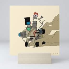 Post-apocalyptic cameraman Mini Art Print