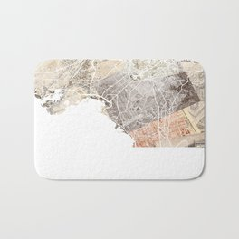 Athens map Bath Mat