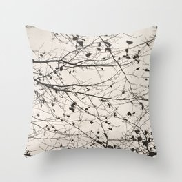 boughs pale Throw Pillow