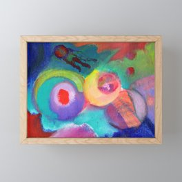 Escape, an abstract expressionist space scape Framed Mini Art Print