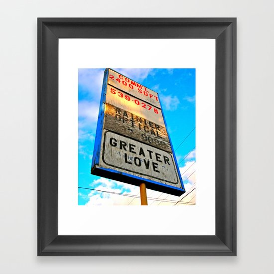 Greater Love Framed Art Print