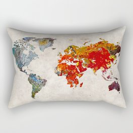 World Map 49 Rectangular Pillow
