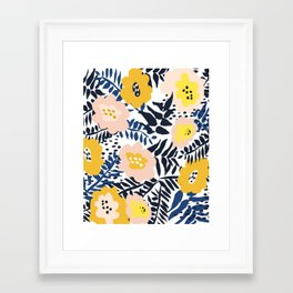 Outdoor: florals matching to design for a happy life Framed Art Print