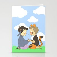 destiel Stationery Cards featuring WTP! Destiel by psych0tastic