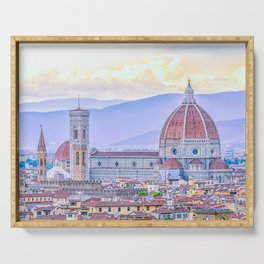 Cathedral of Santa Maria del Fiore  Florence Italy Serving Tray
