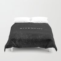 givenchy Duvet Covers featuring Givenchy Black  by Luxe Glam Decor
