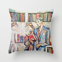 Vintage boy Throw Pillow
