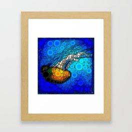 Ocean jellyfish photo bubble art | Go with the flow Framed Art Print