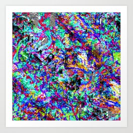 color chaos bywhacky Art Print