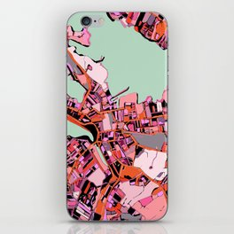 Abstract Map Salem MA iPhone Skin