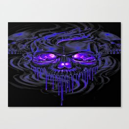 Purple Nurpel Skeletons Canvas Print