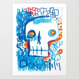 Skull of the Insomniac Art Print