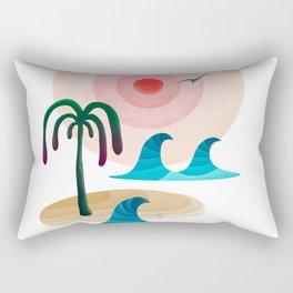 059 - Owly enjoying the positive vibes at the beach Rectangular Pillow