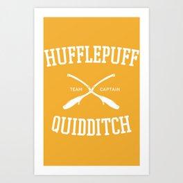 Hogwarts Quidditch Team: Hufflepuff Art Print