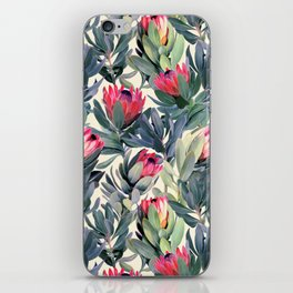 Painted Protea Pattern iPhone Skin