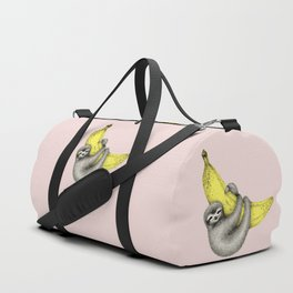 Bananas about you - pink Duffle Bag