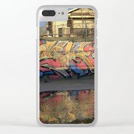 Graffiti in the ditch Clear iPhone Case