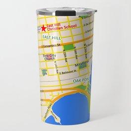 Map of Pensacola, FL - East Hill Christian School Travel Mug