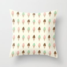 Ice Cream - Whipped Throw Pillow