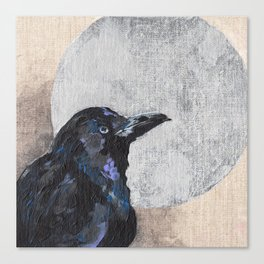 The Silvery Moon Canvas Print