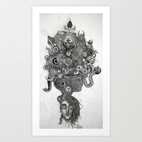 On my Mind Art Print