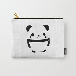 Cute Black and White Panda Illustration Carry-All Pouch