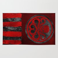 hydra Area & Throw Rugs featuring Captain Hydra by Some_Designs