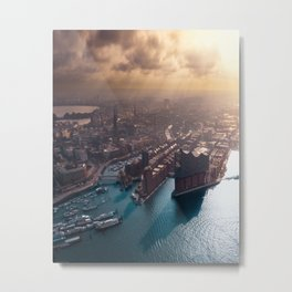 Port of Hamburg, Germany Metal Print