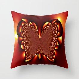 Golden Butterfly - HS Series Throw Pillow