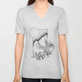 Lillies and Violets Unisex V-Neck