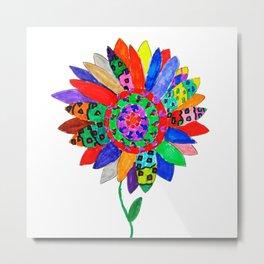 Mandala flower Veta Metal Print
