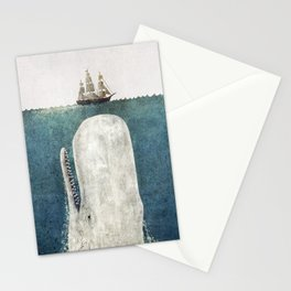 The Whale - vintage  Stationery Cards