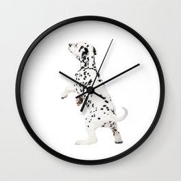 Cute Dalmatian 8 Wall Clock