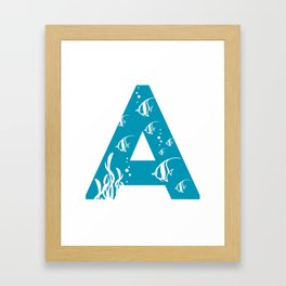 A is for Angelfish - Animal Alphabet Series Framed Art Print