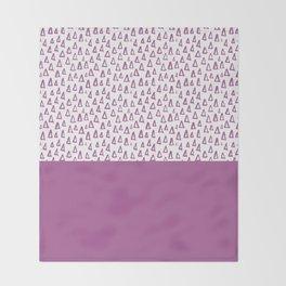 Triangles Purple Throw Blanket