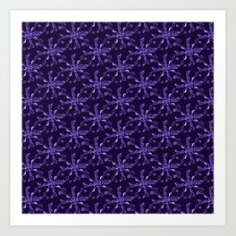 Rope Twist Sky (Purple): an energetic pattern to enrich your every day Art Print
