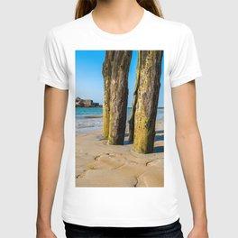 Saint Malo beach at low tide T-shirt