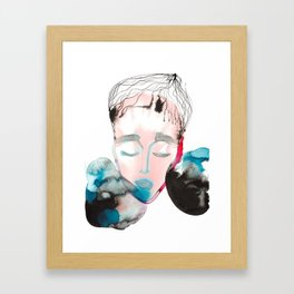 Abstract Cone-Head Portrait Framed Art Print