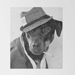 The Reporter - Rotweiler Dog Throw Blanket