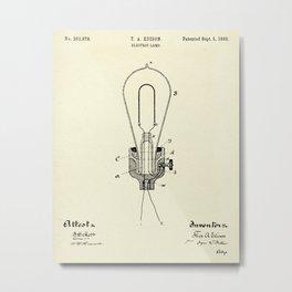 Electric Lamp-1882 Metal Print