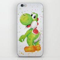yoshi iPhone & iPod Skins featuring Yoshi by Sabina's Arts