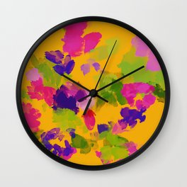 The Floral Watercolor Wall Clock
