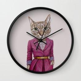 cat Mrs Wall Clock