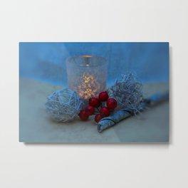 Candle- Christmas image Metal Print
