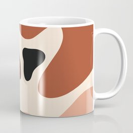 abstract organic shapes earth tones Coffee Mug