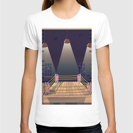 Cartoon Boxing ring gym T-shirt