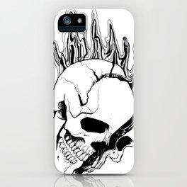Skull #8 (Spill) iPhone Case