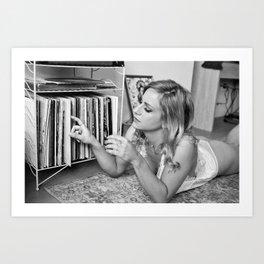 play the record Art Print