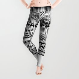 A-Z / Black on White Leggings